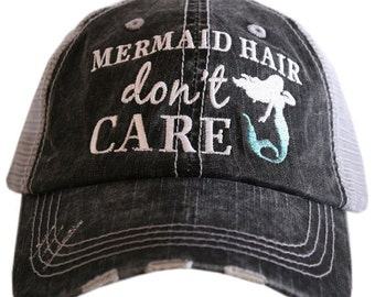 Mermaid Hair Don't Care ~ Mermaid Hair Don't Care baseball Hat ~ Trucker Hat ~ mermaid ~ Mermaid Hair Don't Care Trucker Hat ~ Beach Hat
