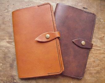 Leather notebook cover, handmade for Moleskine