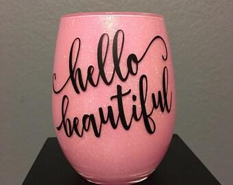 Make-up Brush Holder, Cosmetic Brush Holder, pencil holder, pen holder, Hello Beautiful, Hello Gorgeous, desk accessory