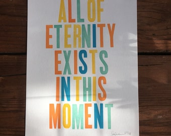 ALL OF ETERNITY Letterpress Print