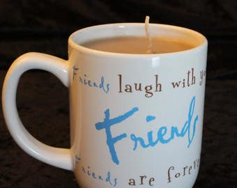 10oz Coffee Mug Candle in Hot Cocoa Scent in Brown