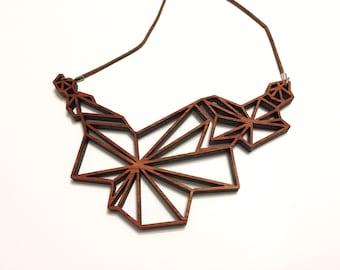 Supernova Wood Necklace