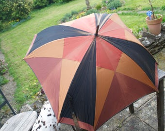 Vintage French Parasol Brown 1950's Retro