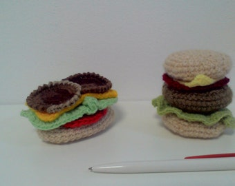 knitted toys burgers / вязанные игрушки бургеры