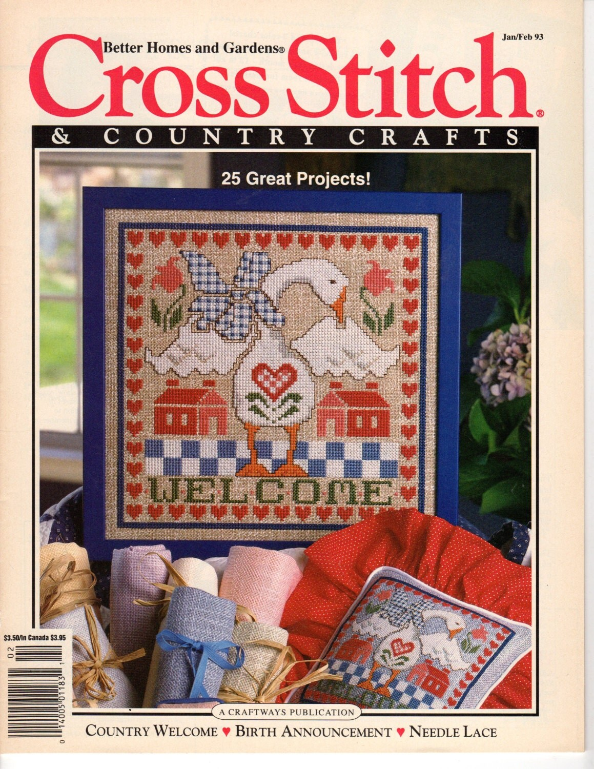 Cross stitch country crafts magazine back issues - Cross Stitch Country Crafts Issue Jan Feb93