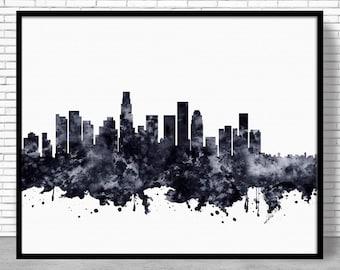 Los Angeles Print, Los Angeles Skyline, Los Angeles California, Office Decor, Office Print, Skyline Art, Cityscape Art, ArtPrintZone