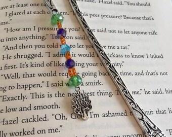 Book Theme Beaded Hook Bookmark (Beautiful Oblivion by Jamie McGuire)