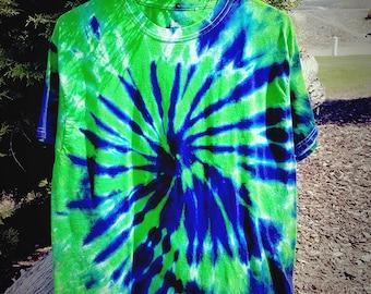 Seattle Seahawks/ Spiral/ Tie Dye/  Small, Medium, Large, XL, XXL, XXXL T-Shirt Seahawks Tie Dye