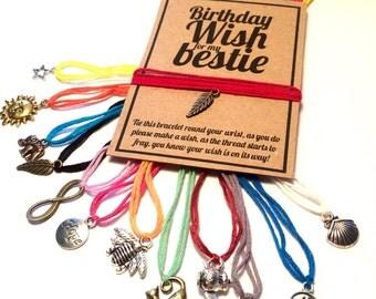 Best friend birthday wish charm bracelet