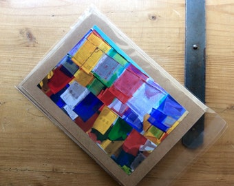 Handmade Card With Tibetan Prayer Flags.