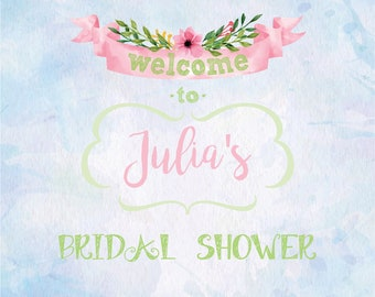 Bridal Shower Welcome Sign, Printable Welcome Sign, Floral Welcome Sign, Custom Welcome Signage, Floral Shower Sign, Shower Printable Sign