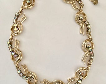 Vintage Rhinestone Necklace Choker