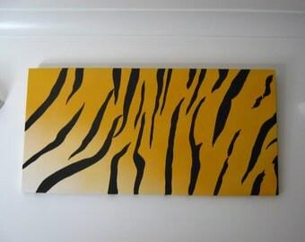 Canvas Tiger print