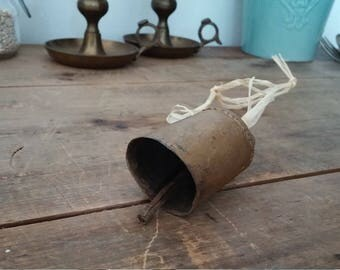 vintage bell, antique bell, cow bell, farmhouse decor, shabby chic, antique decor, rustic decor, bohemian decor, bell collection