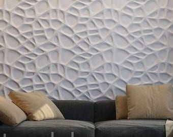 3d panel Plastic mold for gypsum castings Abstract Wall decor for Hall Living room Office
