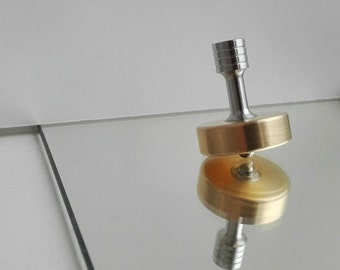 SALE. Spinning top - brass over stainless steel.
