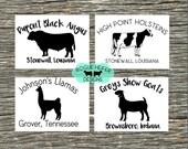 Custom Farm Decal - Beef Ranch - Family Farm - Boer Goat - Llama - Holstein - Charolais - Hereford - Dairy Holstein Jersey Stock show Ranch