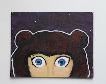 "Acrylic painting - ""The Stargazer"""