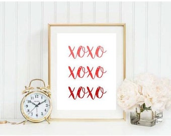 XOXO Ombre Printable 3