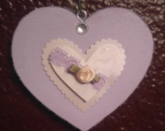 Lavender and Lace Heart
