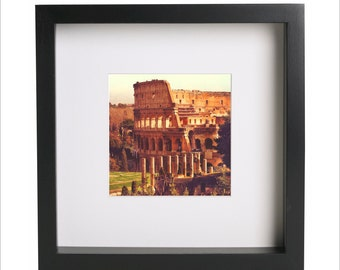ITALY Coliseum, Rome Amphitheatre Colosseum square photo print   Use in IKEA Ribba frame   Looks great framed for gift   Free Shipping  