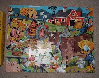 Mickey Mouse Club Farm Fantasy Puzzle Jaymar Disney