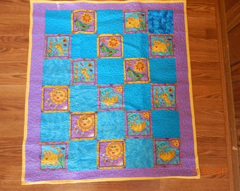 "Baby Quilt - 6"" Offset Squares"
