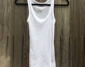 White Ribbed Tank