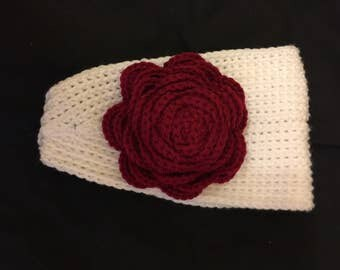 Romantic Red Rose Ear Warmer