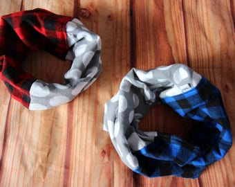 Infinity scarf two colors 6-36 months