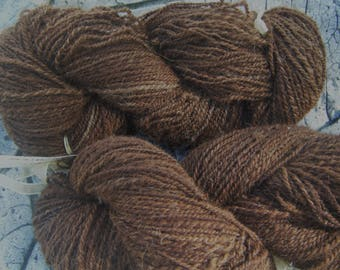 "Cocoa ""100% alpaca spun with spinning wheel"