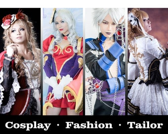 Cosplay Fashion Tailor Outfit Commission Service (Available from August Onward)