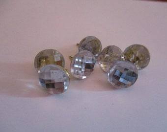 Clear Acrylic Gemstone Push Pin