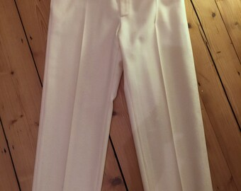 Vintage YSL Yves Saint Laurent winter white trousers