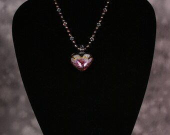 Pearl Necklace w/ Heart Pendant
