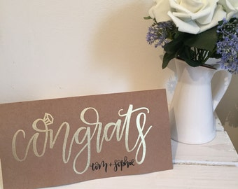 Congratulations Engagement card / Wedding Card - personalised engagement or wedding card
