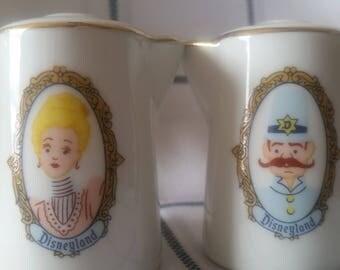 Porcelain Disneyland Royalty salt and pepper shakers, Princess prince