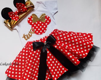 Minnie Mouse birthday outfit , birthday dress,Minnie Mouse dress,Minnie Mouse tutu,Minnie Mouse party,Minnie Mouse outfit,2 birthday Minnie