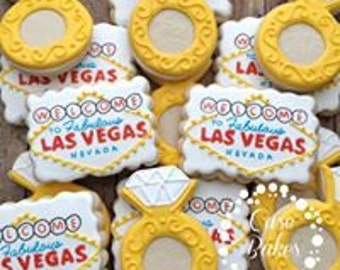 Las vegas wedding cookies - 1 dozen