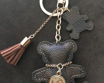 Cute Brown Bear Tassel Key Chain Purse Charm for your Louis Vuitton