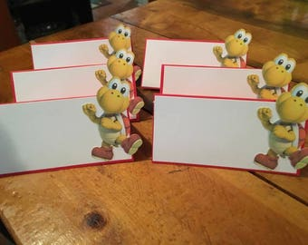12 Super Mario Place Food Tent Cards
