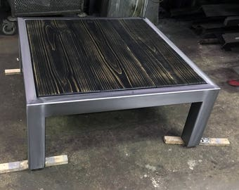 Coffee table steel / wood