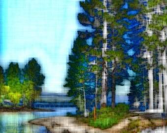 Lake Tahoe - Digitally Enhanced 8x10 Photo Print -