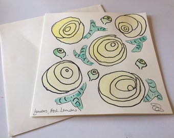 Yellow roses card  // Unique Card // Mother's Day // Birthday Card // Anniversary Card // Valentine's Card // Wedding Card // Easter