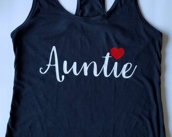 Auntie shirts, Auntie Tank Top, Aunt shirts
