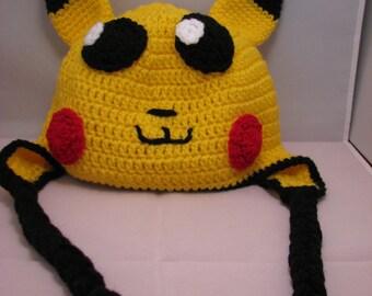 Pikachu ear flap hat