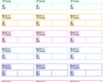 Bills To Pay/Money Track // Stickers // Erin Condren // Personal Filofax