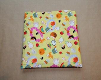 Fabric remnant - kawaii food