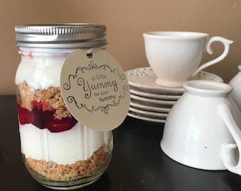 4-1pint strawberry cheesecake jars