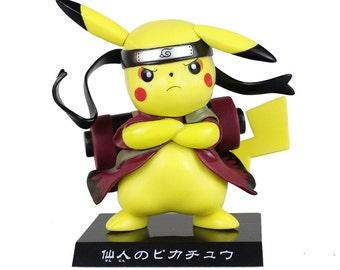 Pokemon Naruto Pikachu Figurine,  Pikachu Naruto Figure Collectible Model Toy